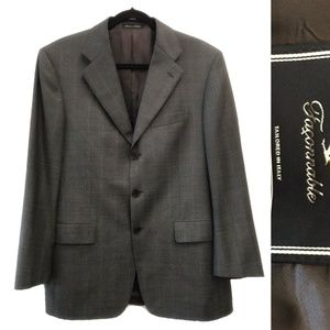 Men's Designer Jacket Faconnable 42 Italian Wool